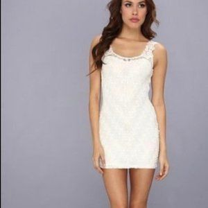 Free People Foiled Again Lace Bodycon Mini Dress